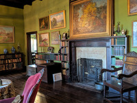 The living room at the T.C. Steele State Historic Site in Brown County, Indiana, remains exactly as it was when the artist and his wife lived there. Photo courtesy of Athena Lucero.