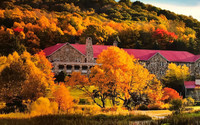 The area around Mountain Lake Lodge in Pembroke, Virginia, is alive with color in the autumn. Photo courtesy of Mountain Lake Lodge.