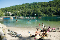 The beach at Mohonk Mountain House in New Paltz, New York, is reminiscent of a quieter time. Photo courtesy of Mohonk Mountain House.