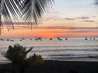 The sun sets over Puntarenas on the Pacific side of Costa Rica. Photo courtesy of Bill Neely.