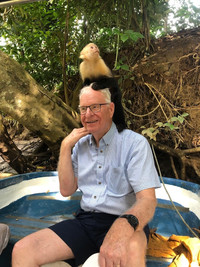 Capuchin monkeys on a Monkey Mangrove Tour in Costa Rica will sit on visitors' heads for the photo-op of a lifetime. Photo courtesy of Bonnie Neely.