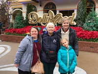 The author and her family brave the rain for a day at Dollywood in Pigeon Forge, Tennessee. Photo courtesy of Bonnie Neely.