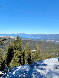 Many ski trails offer views of California's Lake Tahoe, such as this from the Sierra-at-Tahoe Resort. Photo courtesy of Margot Black.