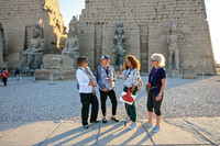 Members of an Overseas Adventure Travel tour group visit ancient monuments in Egypt. Photo courtesy of the Grand Circle Corp.