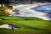 Watching matches online might keep golfers occupied until they can head to the Pebble Beach Golf Course in Northern California again. Photo courtesy of Photogolfer/Dreamstime.com.