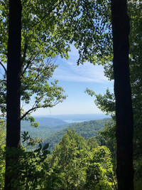 It is easy to see where the Blue Ridge Mountains that span the East Coast of the United States got their name. Photo courtesy of Bill Neely.