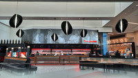 The usually bustling Rock and Brews lounge at Los Angeles International Airport was recently offering only drinks and wrapped sandwiches. Photo courtesy of Jim Farber.