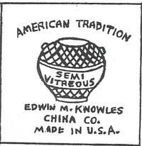 . Edwin M. Knowles China Company was one of the leading manufacturers of dinnerware in the U.S.