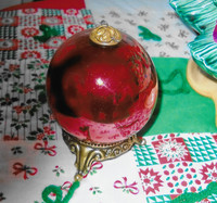 Kugel glass ornaments were made in Germany.