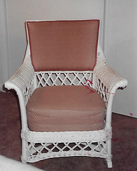 "Chair is marked with a ""J. B. Van Sciver Co."" metal tag."