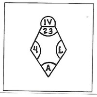 This diamond-shaped mark was used by British Registry in England.