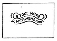 David Methven and Sons produced earthenware and stoneware.