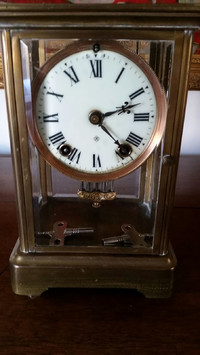 Ansonia brass clock was made in New York.