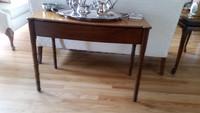 Sheraton table is circa 1800.