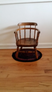 Child's smoker's bow chair is circa 1900.
