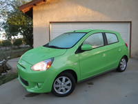 The Mitsubishi Mirage is a roomy five-door subcompact hatchback with a starting price of $14,000.