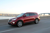The Santa Fe's exterior styling is sharp without compromise to interior space.