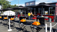 The Weber Mobile Grill Academy, a 53-foot expandable truck, at the Sturgis Motorcycle Rally.