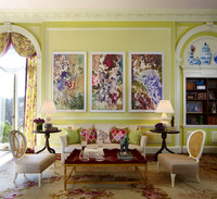 How to update a traditional setting: Blend contemporary ideas and art, then shake things up with a bit of whimsy. Photo: Philip Ennis