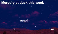 A look at Mercury at dusk this week.