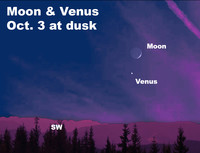 View Venus and the delicate crescent moon this week.
