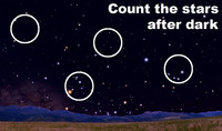 Count the stars after dark this week.