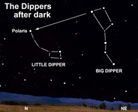 Take a peak at the springtime sky this week by finding the Dippers.