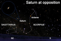 View Saturn, lord of the rings, after dark this week.