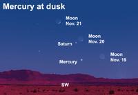 Find the elusive planet Mercury after dark this week.