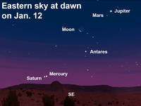 View the planetary dance at dawn this week.