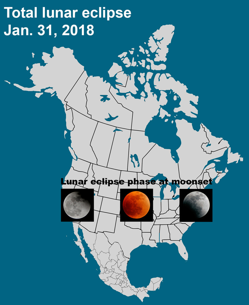Super blue blood moon phenomenon on Jan 31