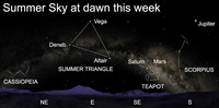 Those who are early to rise this week will get a celestial treat.