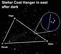 Find the stellar coat hanger after dark this week.