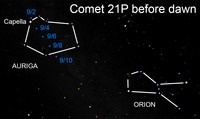 Find a comet worth seeking after dark this week.