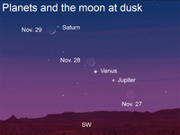 Venus and Jupiter are gearing up to put on quite a show for stargazers as November comes to a close.