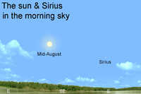 Many in olden times believed that it was the heat of brilliant Sirius, coupled with that of the sun, that produced the scorching summertime temperatures.