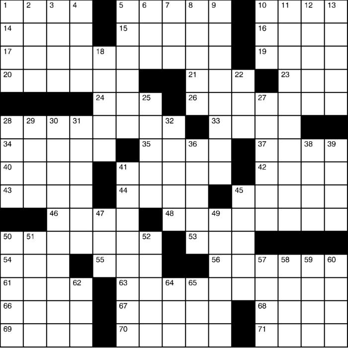 Charles Preston Crossword for Oct 27, 2019