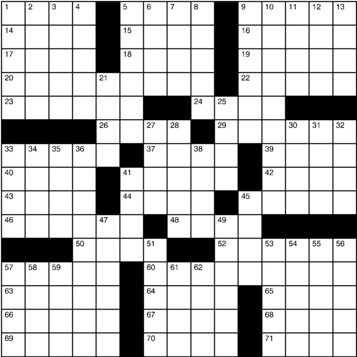 graphic relating to Printable Chicago Tribune Crossword known as Charles Preston Crossword Creators Syndicate
