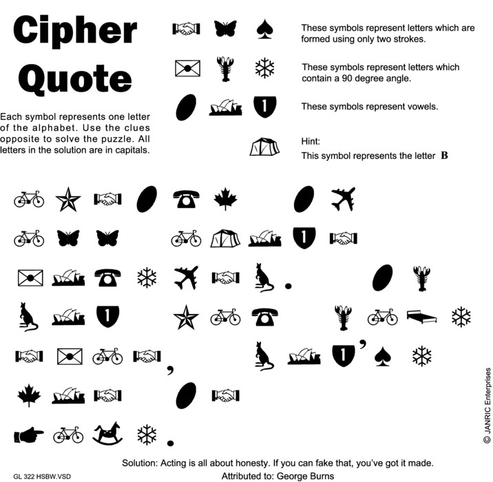 Cipher Quote For Sep 12 2014 By Creators Syndicate