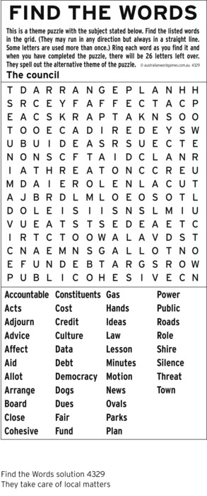 International Wordfind for Mar 23, 2019