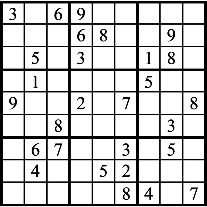 Janric Classic Sudoku for Mar 07, 2018