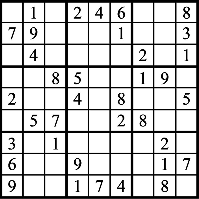 Janric Classic Sudoku for Mar 08, 2018