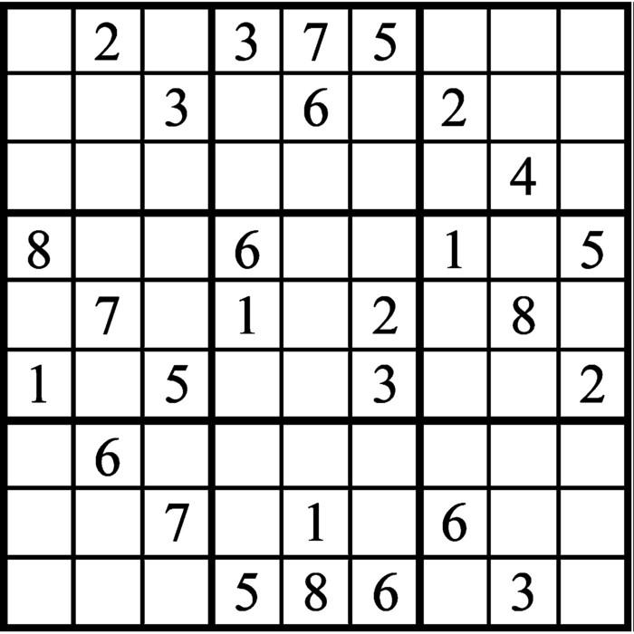 Janric Classic Sudoku for Sep 09, 2018