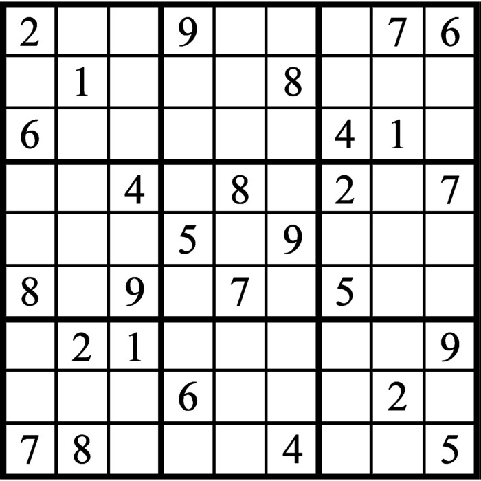 Janric Classic Sudoku for Sep 12, 2018