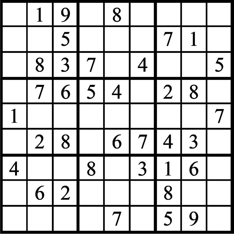 Janric Classic Sudoku for Sep 24, 2018