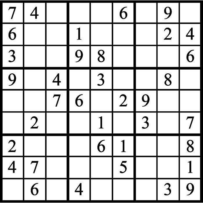 Janric Classic Sudoku for Nov 18, 2018