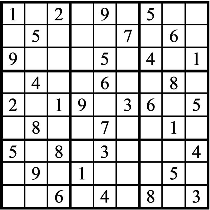 Janric Classic Sudoku for Jan 21, 2019