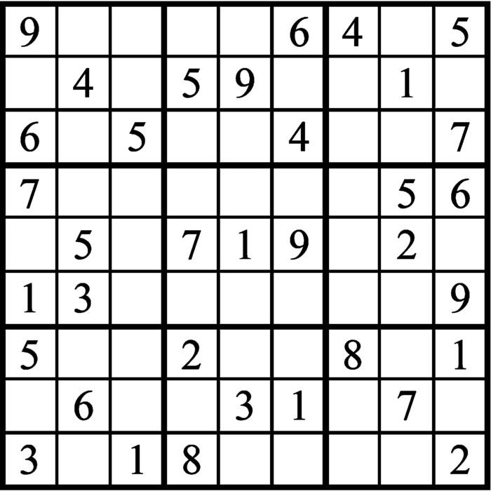 Janric Classic Sudoku for Jan 24, 2019