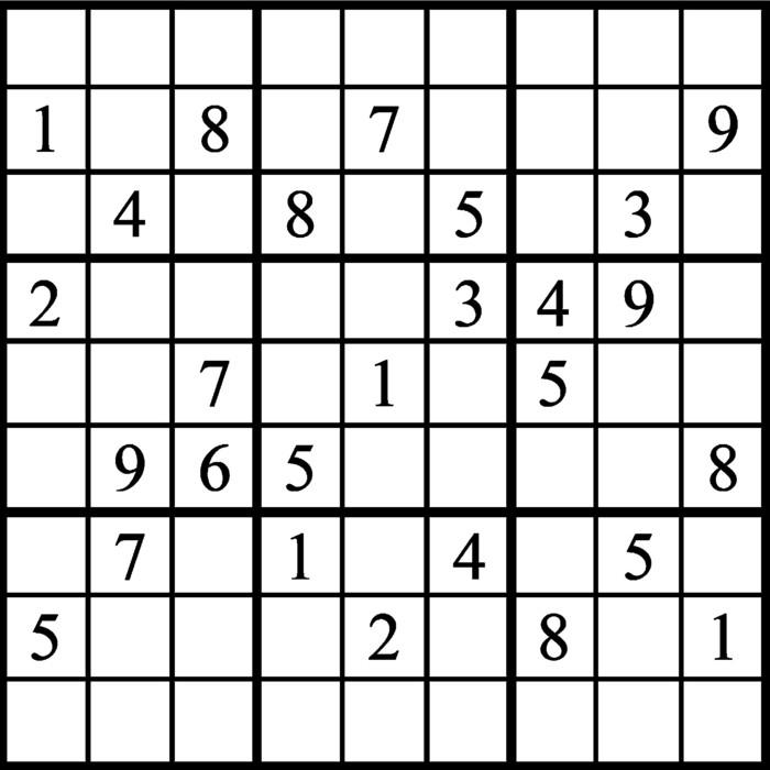 Janric Classic Sudoku for Feb 16, 2019
