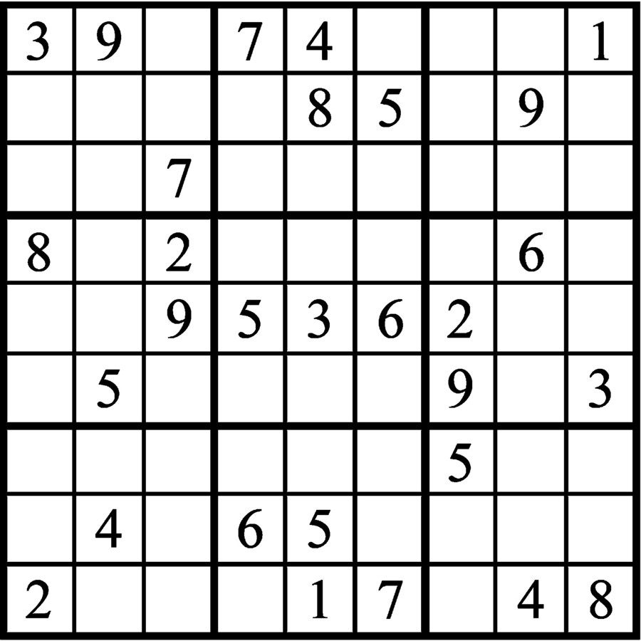 Janric Classic Sudoku for Mar 23, 2019